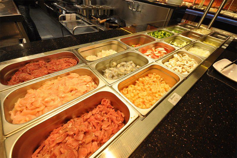 Wokbuffet Vlees, Vis & Schaaldieren